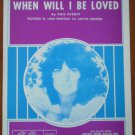 When Will I Be Loved Sheet Music Phil Everly Linda Ronstadt 1960 Acuff-Rose