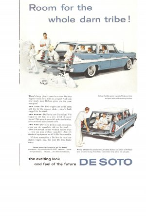 Vintage Ad De Soto Wagon 1958 Room for the whole darn tribe