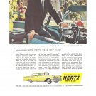 Vintage Ad Hertz Rent A Car 1958 Bennett Cerf CBS TV What's My Line