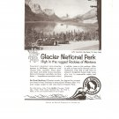 Vintage Ad Glacier National Park 1958 Upper St Mary Lake