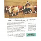 Vintage Ad Sinclair Oil Corporation 1958 Whichita Wildlife Refuge Oklahoma