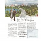 Vintage Ad Southern California Vacation 1958 Wilshire Blvd Hollywood Hills