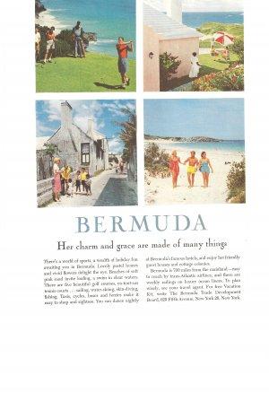 Vintage Ad Bermuda 1958 Golf Beach