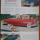 Vintage Ad Lincoln Cosmopolitan 1948 Ford Motor Company