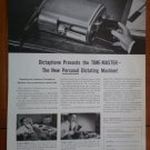 Vintage Ad Dictaphone Electronic Dictation 1948 Time-Master