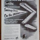 Vintage Ad Guthlite Fluorescent 1948 Jacknife Hinge Edwin Guth Co