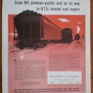 Vintage Ad Snow Hill Coal Train 1948 Walter Bledsoe Company