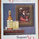 Vintage Ad Seagram VO 1948 Canadian Whisky Very Obviously a Masterpiece