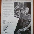 Vintage Ad Crane's Fine Papers 1948