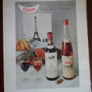 Vintage Ad Cruse French Wine 1960s
