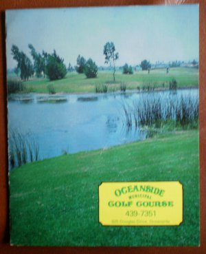 Vintage Golf Scorecard Oceanside Municipal Golf Course