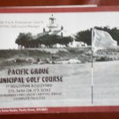 Vintage Golf Scorecard Pacific Grove Municipal Golf Course