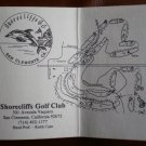 Vintage Golf Scorecard Shorecliffs Golf Club San Clemente California