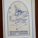 Vintage Golf Scorecard Snowcreek Golf Course Mammoth Lakes California
