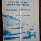 Vintage Golf Scorecard Ventura County Soule Park Golf Course