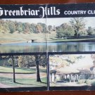 Vintage Golf Scorecard Greenbriar Hills Country Club
