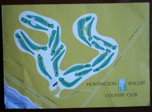 Vintage Golf Scorecard Huntington Seacliff Country Club Huntington Beach CA