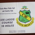 Vintage Golf Scorecard Costa Mesa Public Golf Country Club CA