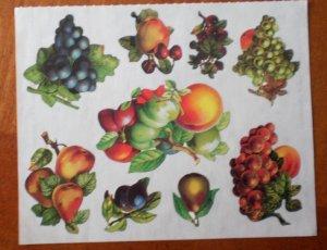 Mrs Grossman Gifted Line Victorian Fruit Harvest John Grossman Stickers Grapes Peach