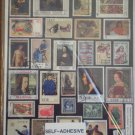 Art Accents Stickers Collage Collection Postal People Stamp Artwork