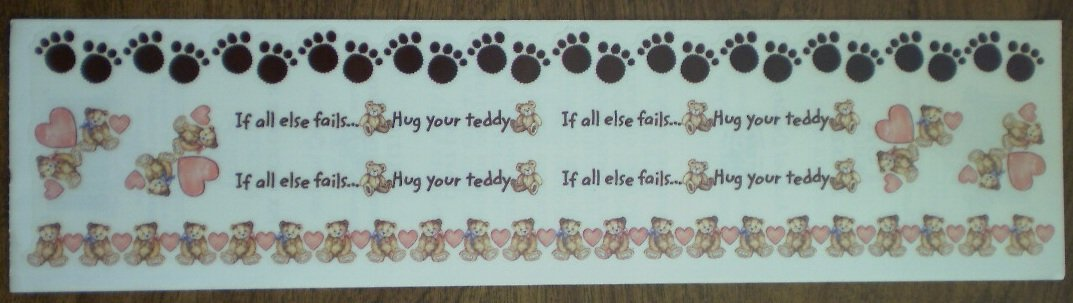 PSX Stickers Sweet Bears Borders SR1210 2001 Hug Teddy