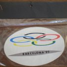 Barcelona '92 Sticker Olympics 1992 Spain Oval