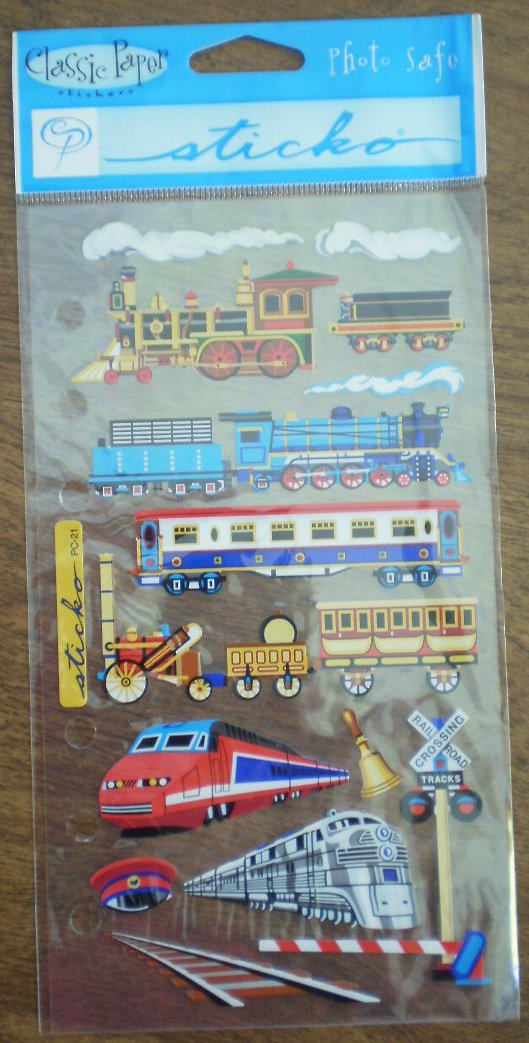Loco Motion Classic Paper Stickers Sticko Train Locomotives SP PC 21 Stickopotamus
