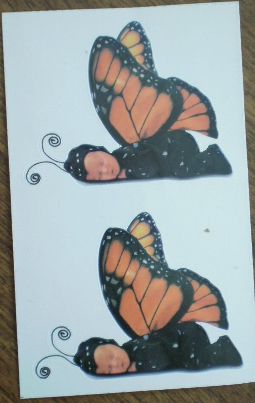 Anne Geddes Stickers Monarch Butterfly Gifted 1999 Michel Co 6647R
