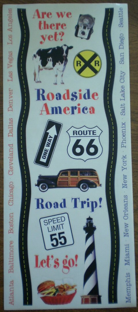 Road Trip Stickers Paper House Productions Stickypix SB315ROL