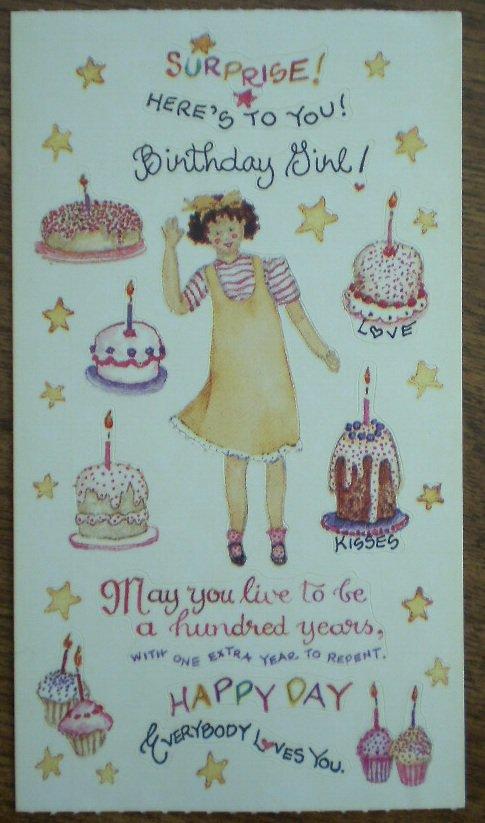 Susan Branch Stickers Birthday Girl 13253 Art Impressions