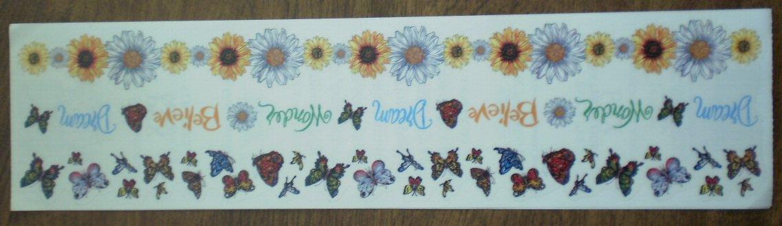 Personal Stamp Exchange Stickers Daisies Butterflies Borders SR1212 PSX