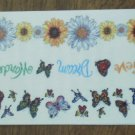 Personal Stamp Exchange Stickers Daisies Butterflies Borders SR1212 PSX