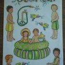 Jan Lanoy Stickers Super Soaked Summer Bo Bunny Press 2002 SUPSS140
