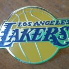 Los Angeles Lakers Pin LA Basketball Lapel Goldtone Metal