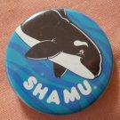 Sea World Shamu Pin Button Killer Whale Orca