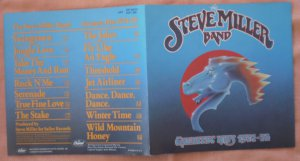 Insert Cover for Steve Miller Band Greatest Hits 1974-78 No CD