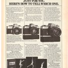 Vintage Ad Minolta Camera Just For You 1978 2 pages