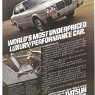 Vintage Ad Datsun 810 Luxury Car 1978 Most Underpriced