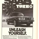 Vintage Ad Saab Turbo Performance Car 1978