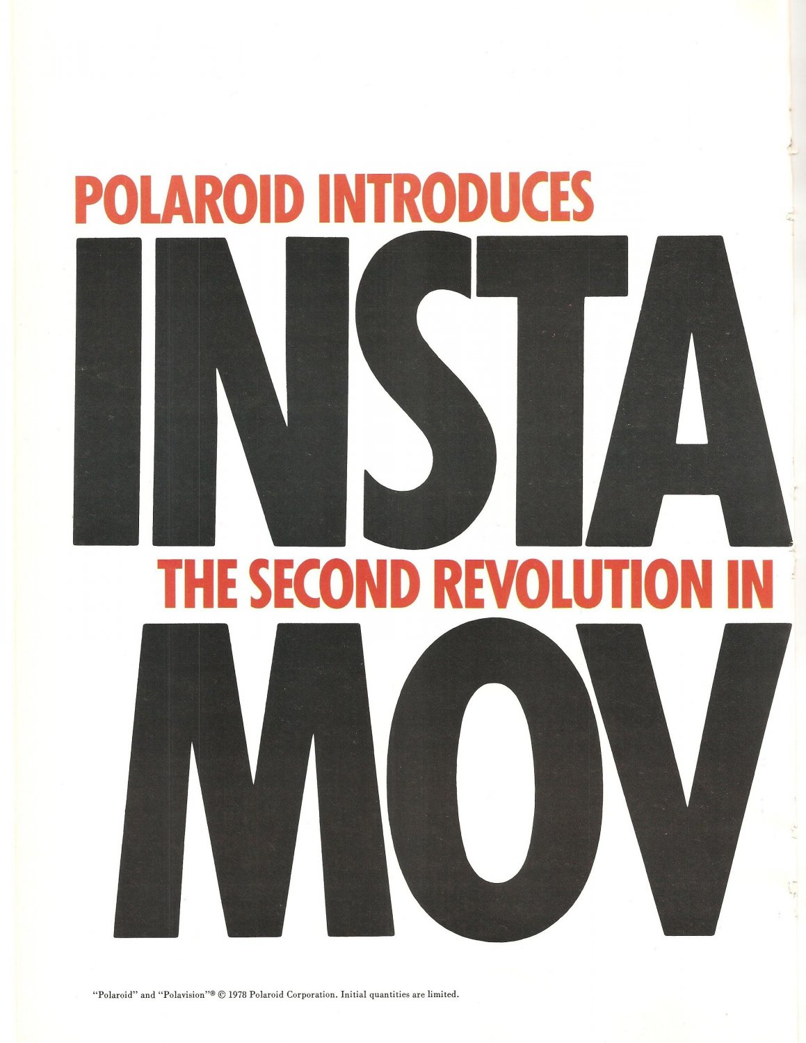 Vintage Ad Polaroid Polavision Instant Movies 1978 2 pages