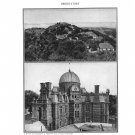 Observatory Mount Wilson Lick Royal Plate Print 1936 Book 2-page sheet
