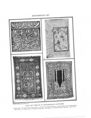 Mohammedan Art  Plate Print 1936 Book 2 pages