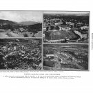 North Carolina Cities Countryside Plate Print 1936 Book