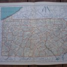 Pennsylvania Map Rand McNally Popular Plate Print 1936 Book