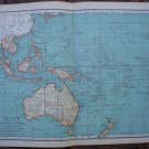 Oceania Map Rand McNally Popular Plate Print 1936 Book