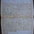 New Mexico Map Rand McNally Popular Plate Print 1936 Book
