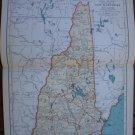 New Hampshire Map Rand McNally Popular Plate Print 1936 Book