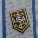 Wrights Applique Patch USA Anchor 2 Stars