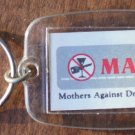 Vintage MADD Keychain Mothers Against Drunk Driving Key Ring