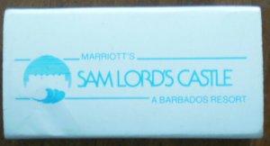 Vintage Matchbook Sam Lords Castle Marriott Barbados Box Matches